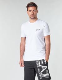 Textil Muži Trička s krátkým rukávem Emporio Armani EA7 TRAIN LOGO SERIES M TAPE TEE ST Bílá