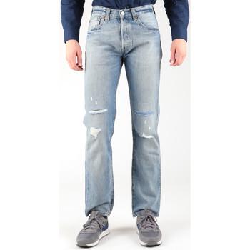 Textil Muži Rifle rovné Levi's Levis 501-0605 blue