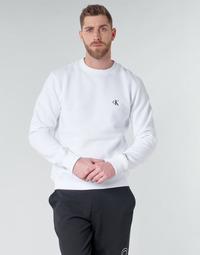 Textil Muži Mikiny Calvin Klein Jeans CK ESSENTIAL REG CN Bílá