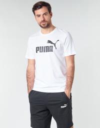 Textil Muži Trička s krátkým rukávem Puma ESSENTIAL TEE Bílá