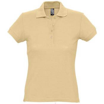 Textil Ženy Polo s krátkými rukávy Sols PASSION WOMEN COLORS Marr?n