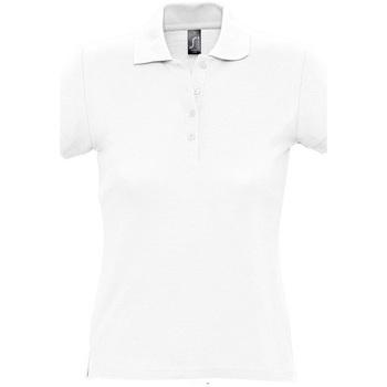 Textil Ženy Polo s krátkými rukávy Sols PASSION WOMEN COLORS Blanco