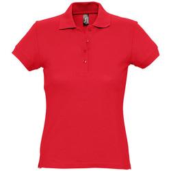 Textil Ženy Polo s krátkými rukávy Sols PASSION WOMEN COLORS Rojo