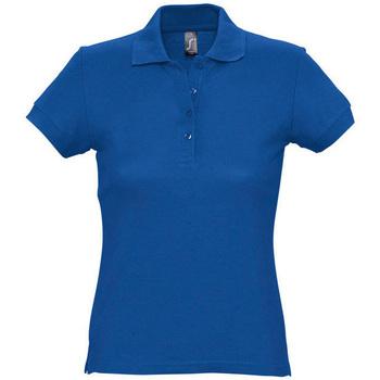 Textil Ženy Polo s krátkými rukávy Sols PASSION WOMEN COLORS Azul