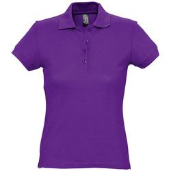 Textil Ženy Polo s krátkými rukávy Sols PASSION WOMEN COLORS Violeta