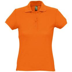 Textil Ženy Polo s krátkými rukávy Sols PASSION WOMEN COLORS Naranja
