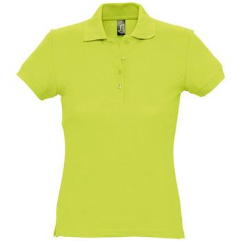 Textil Ženy Polo s krátkými rukávy Sols PASSION WOMEN COLORS Verde
