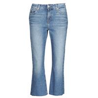 Textil Ženy Rifle rovné Tommy Jeans KATIE CROP FLARE Modrá