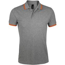 Textil Muži Polo s krátkými rukávy Sols PASADENA MODERN MEN Gris