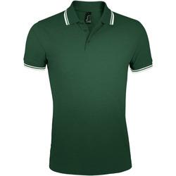 Textil Muži Polo s krátkými rukávy Sols PASADENA MODERN MEN Verde