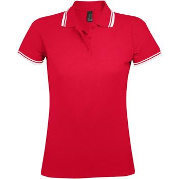 Textil Ženy Polo s krátkými rukávy Sols PASADENA MODERN WOMEN Rojo