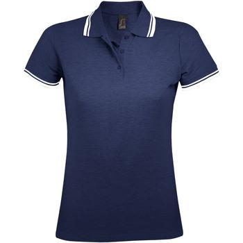 Textil Ženy Polo s krátkými rukávy Sols PASADENA MODERN WOMEN Azul