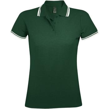 Textil Ženy Polo s krátkými rukávy Sols PASADENA MODERN WOMEN Verde