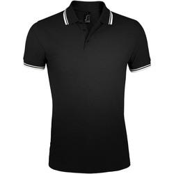 Textil Muži Polo s krátkými rukávy Sols PASADENA MODERN MEN Negro