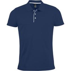 Textil Muži Polo s krátkými rukávy Sols PERFORMER MEN SPORT Azul