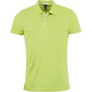 Textil Muži Polo s krátkými rukávy Sols PERFORMER MEN SPORT Verde