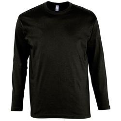 Textil Muži Trička s dlouhými rukávy Sols MONARCH COLORS MEN Negro