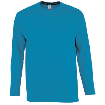 Textil Muži Trička s dlouhými rukávy Sols MONARCH COLORS MEN Azul