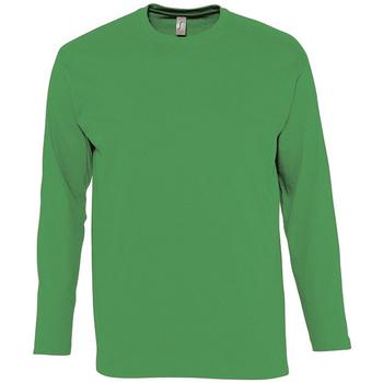 Textil Muži Trička s dlouhými rukávy Sols MONARCH COLORS MEN Verde