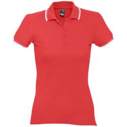 Textil Ženy Polo s krátkými rukávy Sols PRACTICE POLO MUJER Rojo