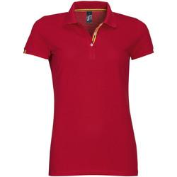 Textil Ženy Polo s krátkými rukávy Sols PATRIOT FASHION WOMEN Rojo