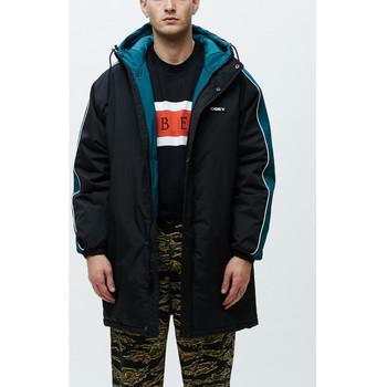Textil Muži Větrovky Obey Major stadium jacket Černá