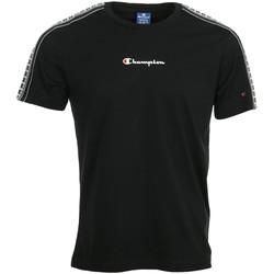 Textil Muži Trička s krátkým rukávem Champion Crewneck T-Shirt Černá