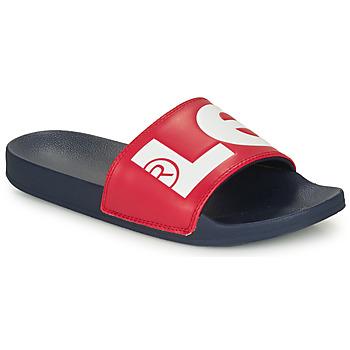Boty Muži pantofle Levi's JUNE L Modrá / Červená