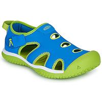 Boty Děti Sportovní sandály Keen STINGRAY Modrá / Zelená
