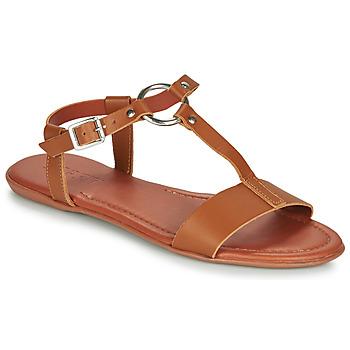 Boty Ženy Sandály Esprit KONA T STRAP Zlatohnědá