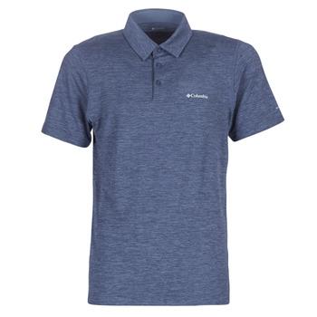 Textil Muži Polo s krátkými rukávy Columbia TECH TRAIL POLO Modrá