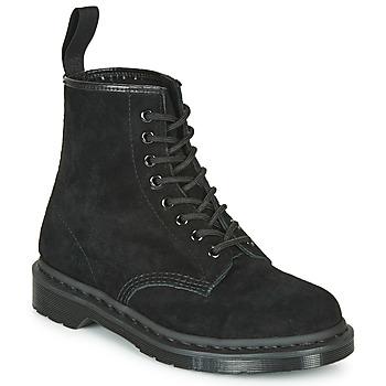 Boty Kotníkové boty Dr Martens 1460 MONO SOFT BUCK Černá