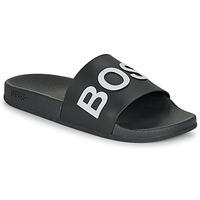 Boty Muži pantofle BOSS BAY SLID RBLG Černá / Bílá