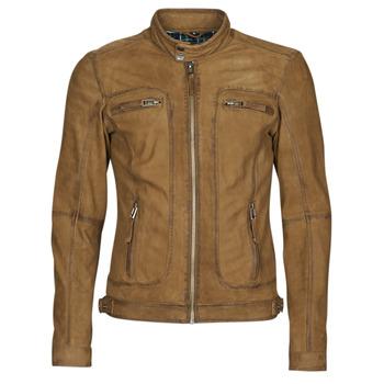 Textil Muži Kožené bundy / imitace kůže Oakwood PLEASE Zlatohnědá