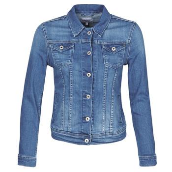 Textil Ženy Riflové bundy Pepe jeans THRIFT Modrá