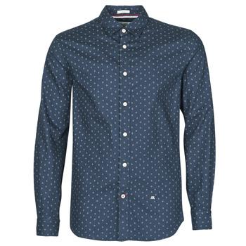 Textil Muži Košile s dlouhymi rukávy Pepe jeans ADAN Tmavě modrá