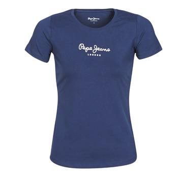 Textil Ženy Trička s krátkým rukávem Pepe jeans NEW VIRGINIA Tmavě modrá
