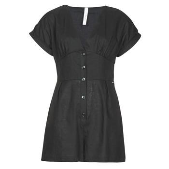 Textil Ženy Overaly / Kalhoty s laclem Pepe jeans SHERGIA Černá