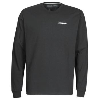 Textil Muži Trička s dlouhými rukávy Patagonia M's L/S P-6 Logo Responsibili-Tee Černá