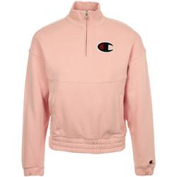 Textil Ženy Mikiny Champion Half Zip Sweatshirt Růžová