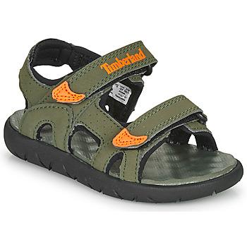 Boty Děti Sandály Timberland PERKINS ROW 2-STRAP Zelená / Oranžová