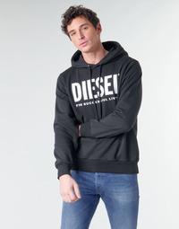 Textil Muži Mikiny Diesel GIR-HOOD-DIVISION Černá