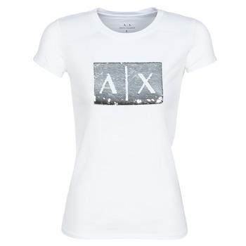 Textil Ženy Trička s krátkým rukávem Armani Exchange HANEL Bílá