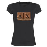 Textil Ženy Trička s krátkým rukávem Armani Exchange HONEY Černá