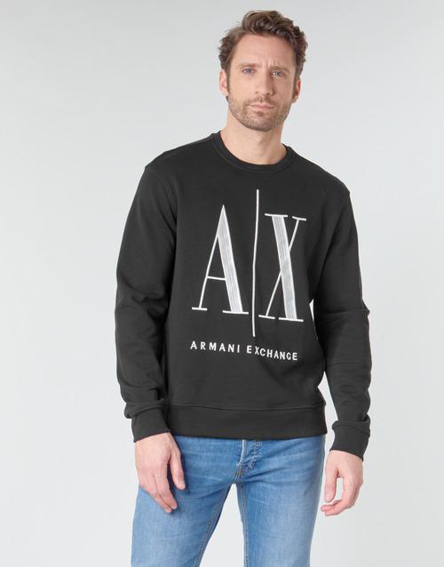 Textil Muži Mikiny Armani Exchange HELIX Černá