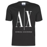 Textil Muži Trička s krátkým rukávem Armani Exchange HULO Černá