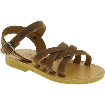 Boty Dívčí Sandály Attica Sandals HEBE NUBUK DK BROWN Marrone medio
