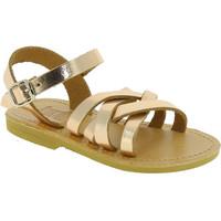 Boty Dívčí Sandály Attica Sandals HEBE CALF GOLD PINK Oro rosa