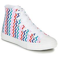 Boty Dívčí Kotníkové tenisky Converse CHUCK TAYLOR ALL STAR VLTG - HI Bílá / Modrá / Červená