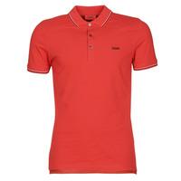 Textil Muži Polo s krátkými rukávy HUGO DINOSO 202 Červená